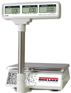 rice lake rs-160 scale with tower display